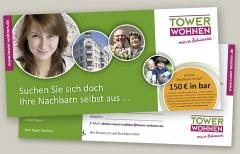 Postkarten Tower Wohnen Nachbarn werden Mieter